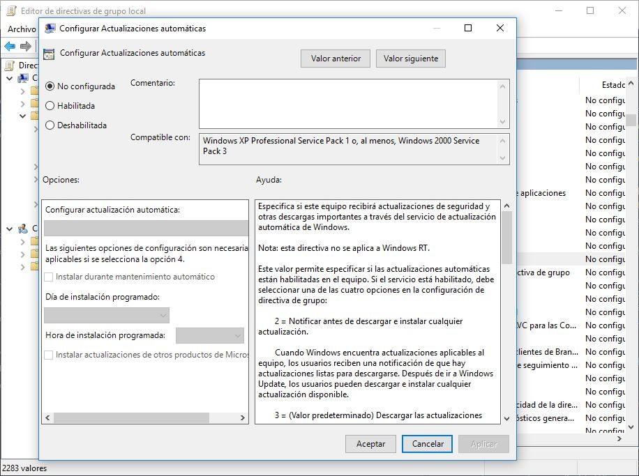 editor de directivas de grupo local de windows 10