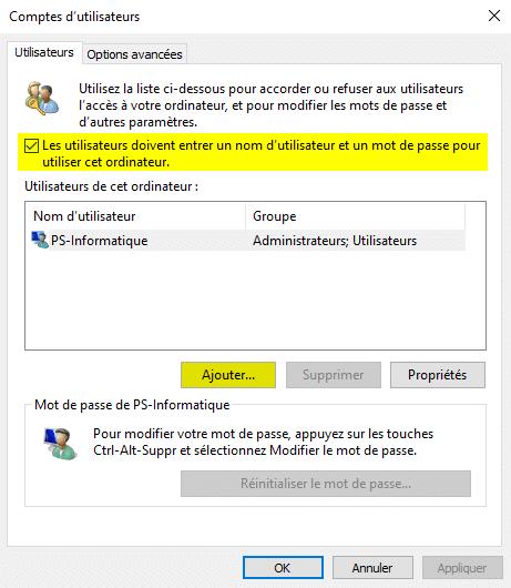 Agregue una cuenta de usuario local en Windows 10 con netplwiz
