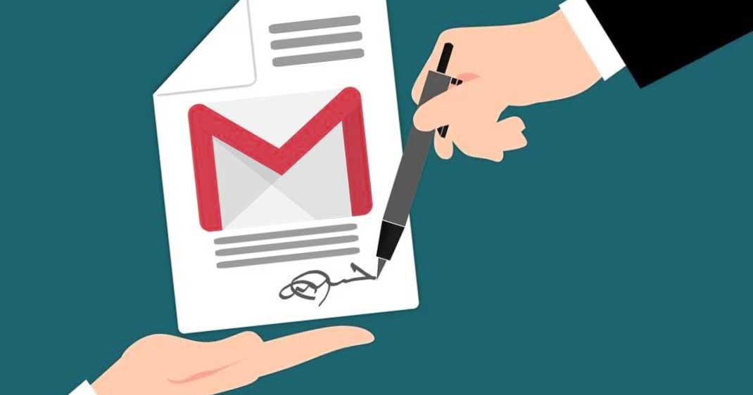 como poner firma en gmail
