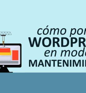 modo mantenimiento wordpress