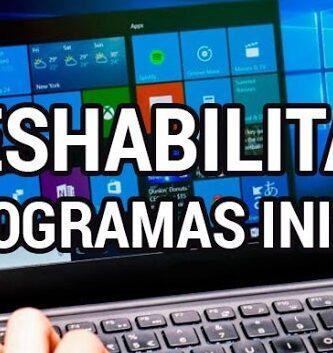 desactivar programas inicio windows 10